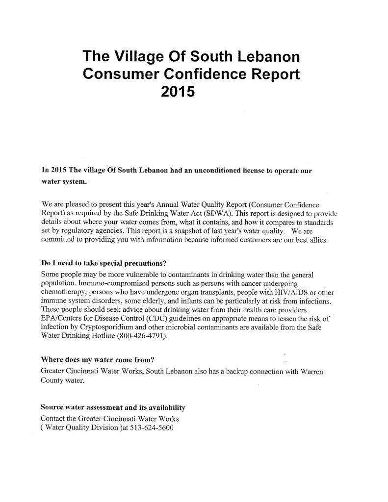 2015 South Lebanon CCR Report0001
