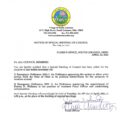 Icon of Special Meeting Notice
